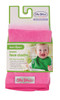 Cerise/Pale Pink Towel Face Washer 2pk