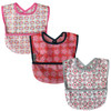 Wipe Clean Pocket Bib 3PK Girl