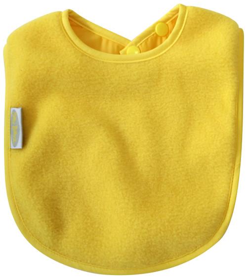 Yellow Fleece Large Bib