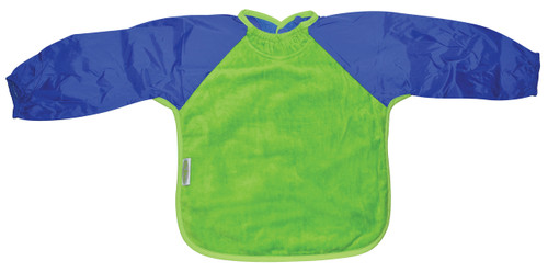 Lime/Royal Towel Long Sleeve Bib