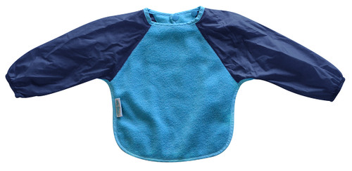 Aqua/Navy Fleece Long Sleeve Bib