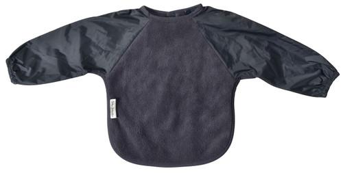 Grey Fleece Long Sleeve Bib