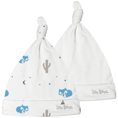 Desert Fox Gumnut Jersey Baby Hat 2pk