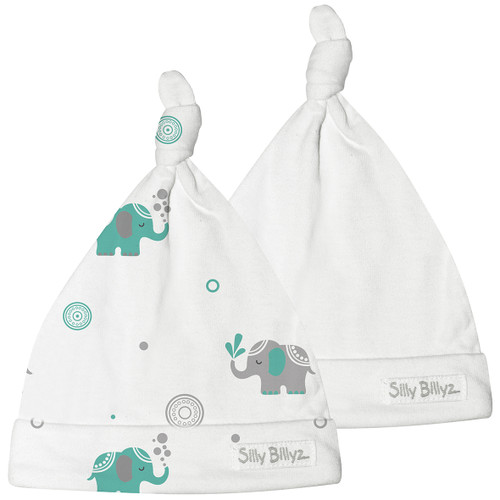 Elephant Gumnut Jersey Baby Hat 2pk