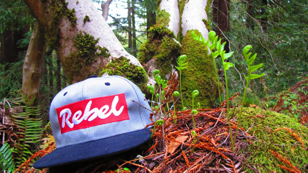 OG Light Grey Snapback Rebel Hat with Black Brim