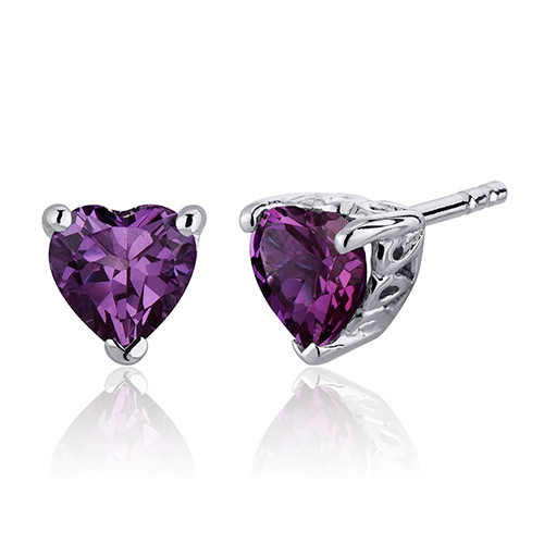 alexandrite sterling swarovski stud silver birthstone june earrings elements dp