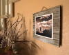 #131 Metal Print on Grey-washed Plaque on Wall