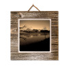 #42 Metal Print on Grey-washed Plaque on Wall