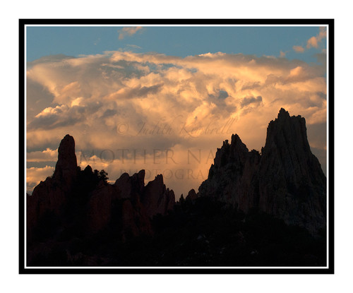 South Face of Garden of the Gods Against Storm Clouds in Colorado Springs, Colorado 2064