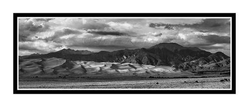 Heavenly Light Over The Great Sand Dunes National Park, Colorado 1949 B&W