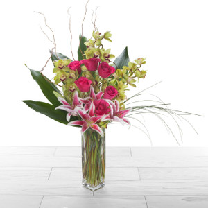 Orchid+ Roses    Pink