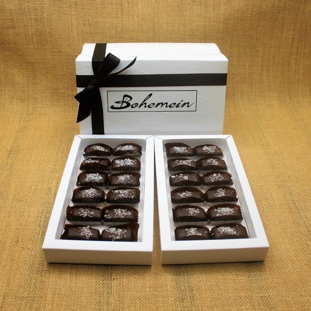 Bohemein 24 chocolate gift Box with 24 Award Winning Sea Salt Caramels.