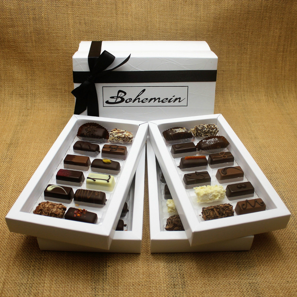 Overwhelmed by choice? Let our knowledgeable Staff and Chocolatiers make the decisions for you.Our recommended assortment is 2 of all of our chocolates