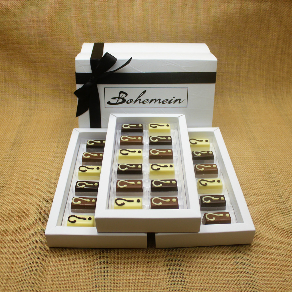 With Bohemein My Own Selection 36 chocolate  Gift Box you can add your personal touch, by making your own selection of 4 pieces from our complete range of chocolates.