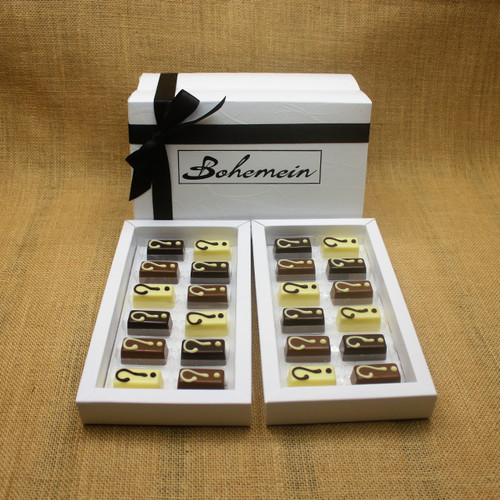 With Bohemein My Own Selection 24 chocolate  Gift Box you can add your personal touch, by making your own selection of 4 pieces from our complete range of chocolates.