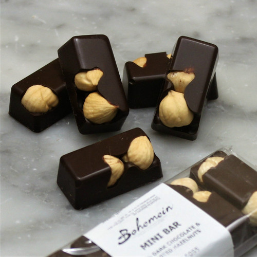 Bohemein Hazelnut 70% Dark Chocolate Mini Bar