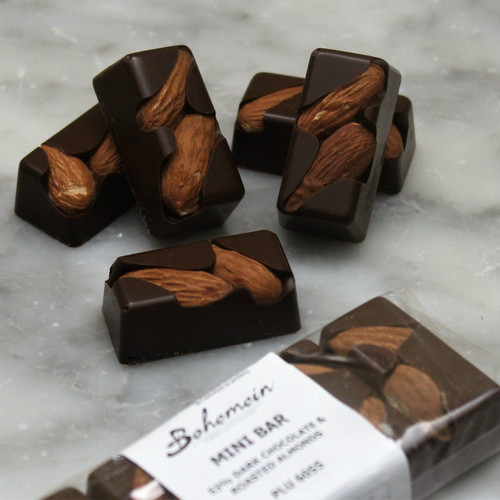 Bohemein Almond 70% Dark Chocolate Mini Bar