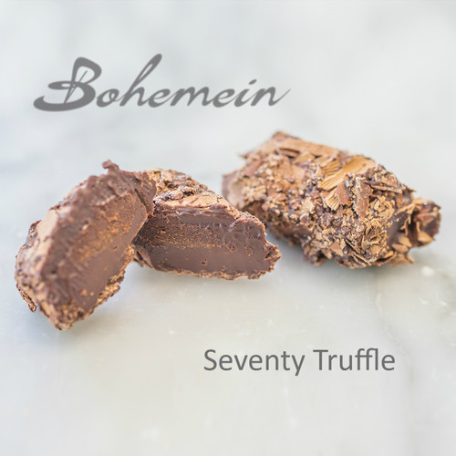 Bohemein Coffee Truffle .A classic Coffee Truffle with hint of Brandy, dipped and rolled in milk chocolate shavings a sweet treat