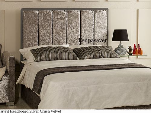 Avril Bed Headboard. Available in Crush Velvet, Chenille, Linen or Faux Suede Fabrics
