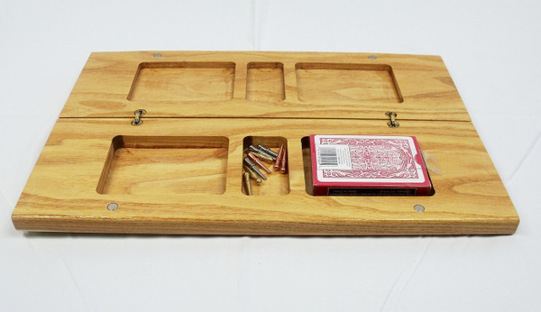 Honey Locust 3 Player Cribbage Board