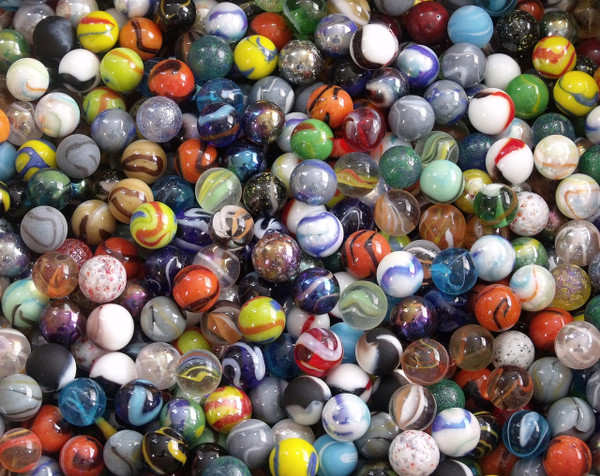 "10 Target Marbles 5/8"" (16mm) diameter Mixed"