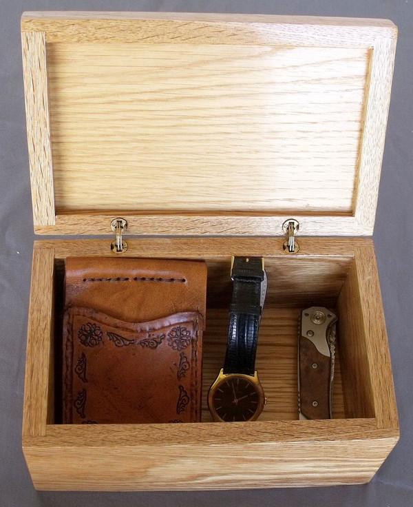 Invisible Hinge Box Oak Leather Celtic Knot1