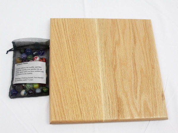 Diamond Marble Solitaire - Oak