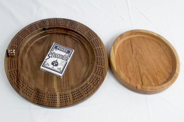 Four Player Cribbage Board Horse Cherry and Walnut