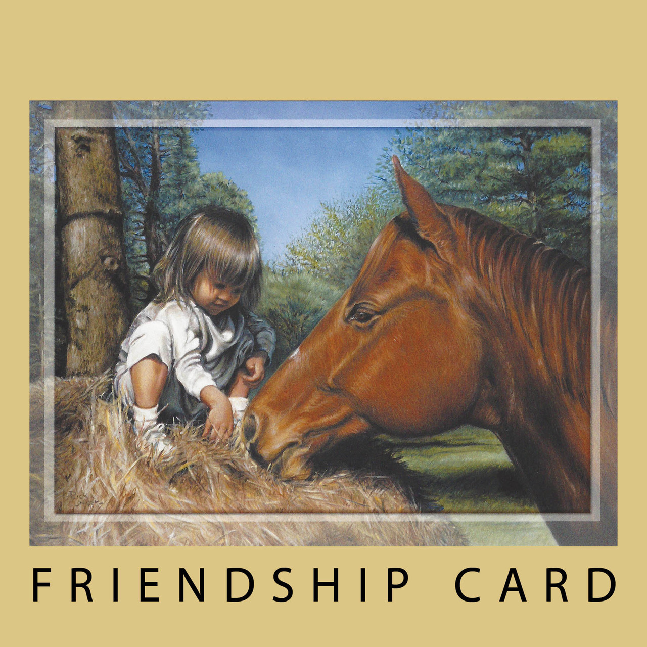 Just A Little Note To Say Hay Friendship Card Horse Play