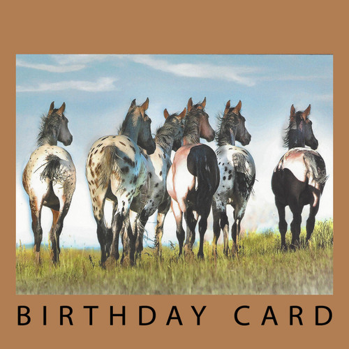 Another Year Behind You Birthday Card Horse Play