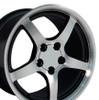"17"" Fits Camaro Corvette C5 Deep Dish Wheel -Black vents 17x9.5"