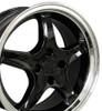 """17"""" Fits Ford - Mustang 4-Lug Cobra R Wheel - Black 17x8"""