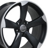 """19"""" Fits Audi - S4 Wheel - Matte Black with a Machined Face 19x8.5"""