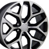 "20"" Fits GMC - Sierra Wheel - Black Machined Face 20x9"