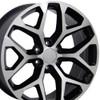 "22"" Fits GMC - Sierra Wheel - Black Machined Face 22x9"
