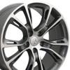 "20"" Fits Jeep - Grand Cherokee SRT8 Wheel - Gunmetal Mach'd Face 20x8.5"