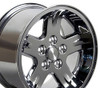 "15"" Fits Jeep - Wrangler Wheel - Chrome 15x8"