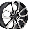 """22"""" Fits Land or Range Rover - Wheel - Machined Black 22x10"""