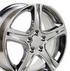 "17"" Fits Lexus - IS Wheel - Chrome 17x7"