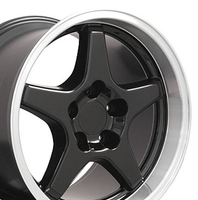 "17"" Fits Chevrolet - Corvette ZR1 Wheel - Black 17x11"