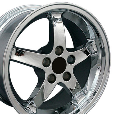 "17"" Fits Ford - Mustang Cobra R Wheel - Chrome 17x9"