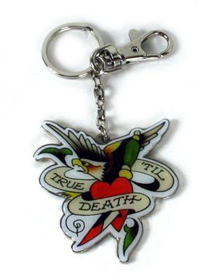 Ed Hardy True Til Death Keychain