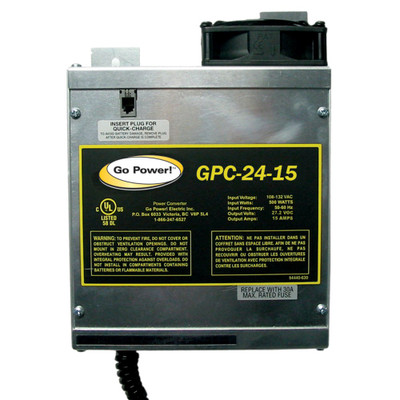 Go Power 15 AMP BATTERY CHARGER 24V, 1 BANK