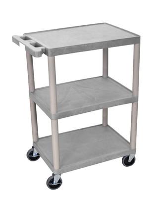 34 Inch Gray Plastic Cart