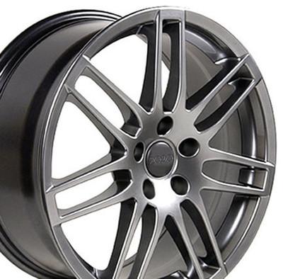 "18"" Fits Audi - RS4 Wheel - Hyper Silver 18x8"