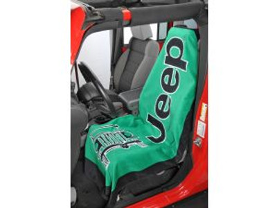 Jeep TOWEL-2-GO Green Car Seat Cover Towel