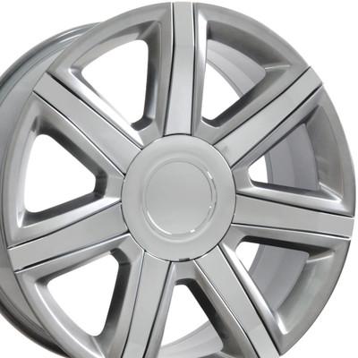 "22"" Fits Cadillac - Escalade Wheel - Hyper Black with Chrome Insert 22x9"