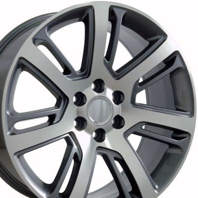 "22"" Fits Cadillac - Escalade Wheel - Gunmetal Machined Face 22x9"