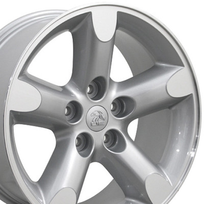 """20"""" Fits Dodge - Ram 1500 Wheel - Silver Machined Face 20x9"""