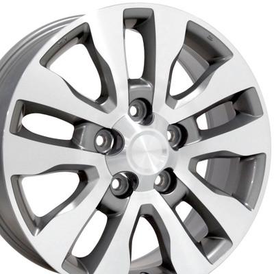 "20"" Fits Toyota - Tundra Wheel - Silver Mach'd Face 20x8"